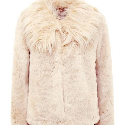 nude guess fur jacket