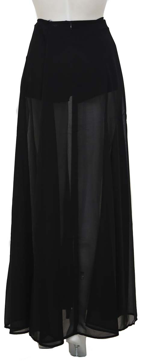 BLACK SEE-THROUGH SKIRT SILV.HEACH